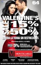 San Valentine SALE MONTECARLO descuentos - 04feb14