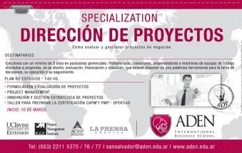 Specialization en direccion de proyectos EL SALVADOR - 25feb14