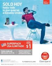 Superpack ILIMITADO llamadas a USA CLARO el salvador - 20feb14