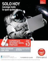 Superpack internet movil prepago SOLO HOY claro - 21feb14