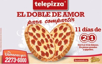Telepizza el doble amor PROMOCION 2x1 - 07feb14