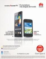 huawei Ascend P6 CLARO el salvador smartphone mas delgado del mundo