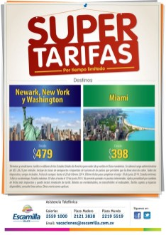 super TARIFAS New Yor Washington Miami escamilla viajes - 14feb14