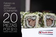 sushi bites promoción febrero 20 piezas