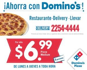 Ahorra con DOMINOS Pizza el salvadro DELIVERY - 03mar14