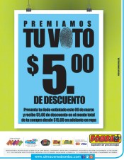 Almacenes BOMBA el salvador premian tu VOTO - 09mar14