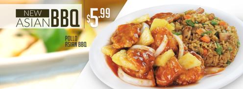 CHINA WOK el salvador New platillo de pollo ASIAN BBQ