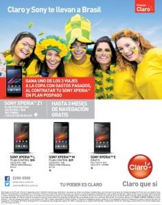 CLARO y SONY te llevan a BRASIL 2014 gracias a SONY xPeria