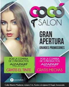 COCO salon el salvador promociones de APERTURA - 01mar14