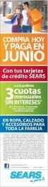Compra HOY y paga en JUNIO promocion SEARS - 07mar14