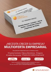 Crecer empresa MULTI OFERTA empresarial DAVIVIENDA SV - 24mar14