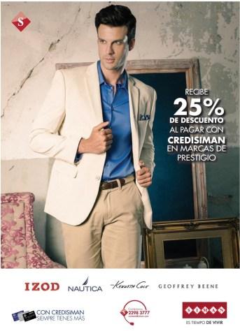 Desuentos en ropa para caballero CREDISIMAN - 07mar14