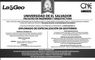 Diplomado de especializacion GEOTERMIA energia geotermica UES