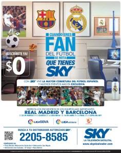 El clasico REAL MADRID vs BARCELONA SKY televsion - 10mar14