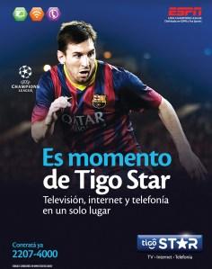 Es momento TIGO STAR el salvador television internet telefonia - 31mar14