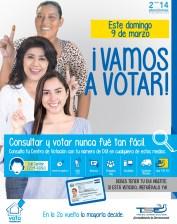 Este domingo 9 de marzo DONDE ME TOCA VOTAR eleccciones 2014