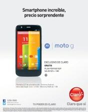 Exclusivo CLARO sv MOTO G smartphone quad core android
