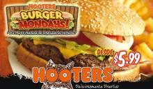 HOOTERS el salvador burger mondays