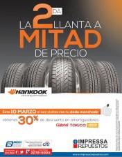 Hankook tires promocion Impresa repuestos - 10mar14