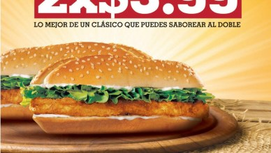 King de Pollo promocion BURGER KING el salvador - 10mar14
