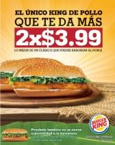King de Pollo promocion BURGER KING el salvador - 10mar14