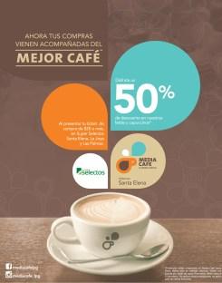 LATTES CAPUCCINOS descuento Media Cafe Super Selectos Santa Elena - 03mar14