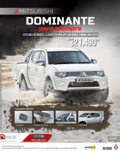 MITSUBISHI pick up L200 doble cabina 4x4 2014 DOMINANTE