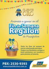 Maxi Efectivo El Salvador FIN De SEMANA regalon - 27mar14