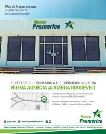 Nueva agencia BANCO PROMERICA alameda roosevelt