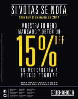 Prisma Moda el salvador SI VOTAS se NOTA - 09mar14
