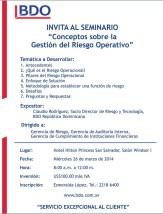 Seminario GESTION de RIESGO Operativo desde republica dominicana