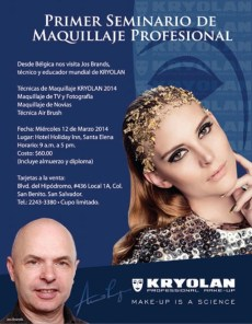 Seminario MAKE UP profesional el salvador KRYOLAN