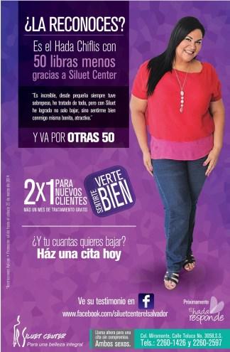Siluet Center el salvador PROMOCION 2x1 Hada Chiflis - 18mar14