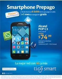TIGO smart SV moviles ALCATEL android prepago - 21mar14
