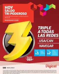 TRIPLE saldo gracias a DIGICEL el salvador TODAS las redes - 24mar14
