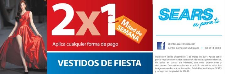 Vestidos de FIESTA noche 2x1 SEARS - 04mar14