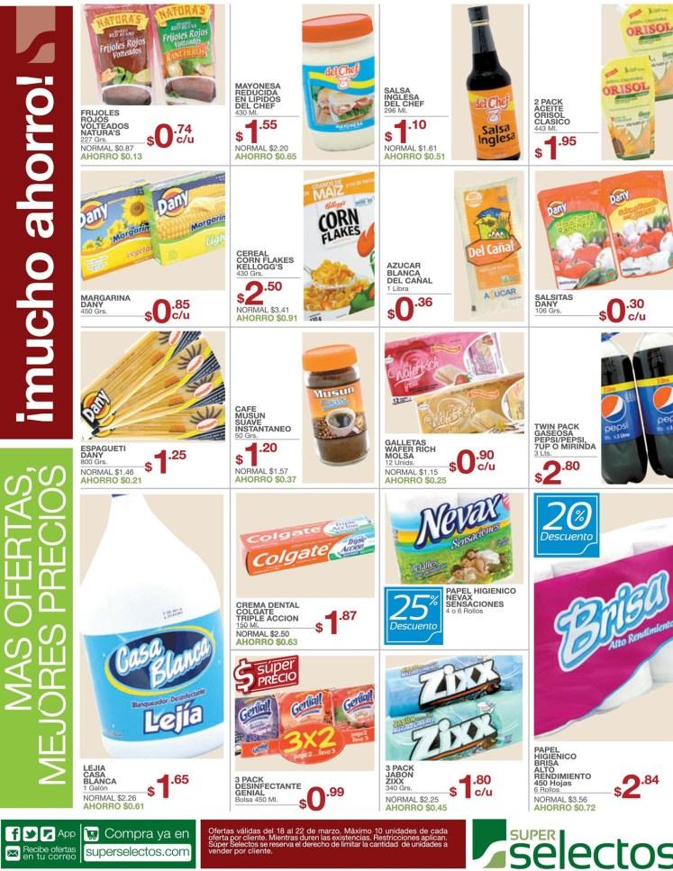 ahorra Super Selectos Ofertas pastas colgate cereales aderezos - 18mar14