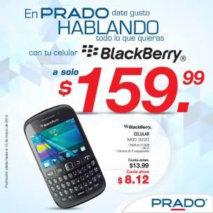 blackberry 9220 promocion PRADO el salvador - marzo 2014