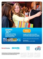 Beneficio BANCO CITI en almacenes SEARS - 25abr14