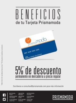 Beneficios de Tarjeta PRISMA MODA - 30abr14