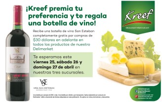 Botella de vino GRATIS en KREEF - 25abr14