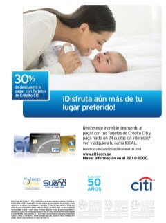 Descuento en camas tarjetas banco CITI - 25abr14