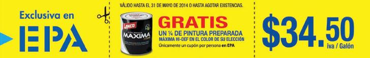 EPA te regala CUPON un cuarto de pintura MAXIMA HD GRATIS.jpg