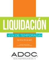 LIQUIDACION fin de temporada ADOC - 25abr14