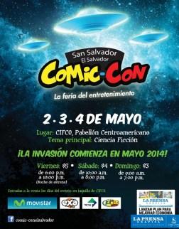 La invasion COMIC CON san salvador 2014