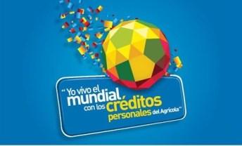 Yo vivo el mundial con los CREDITOS personales del AGRICOLA - 11abr14
