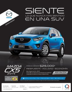 luxory SUV MAZDA CX5 2014 sky active technology
