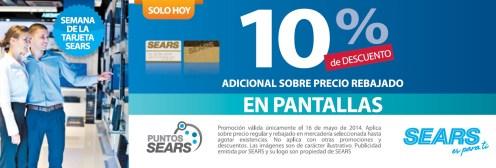 Adicional sobre precio rebajado PANTALLAS sears es para ti - 16may14