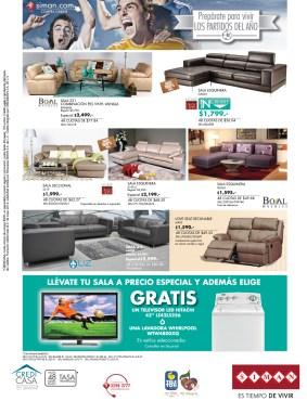 BOAL muebles especial de salas GRATIS pantalla o lavadora - 15may14