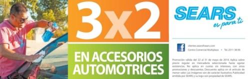 Fin de semana ACCESORIOS automotrices 3x2 promociones sears - 24may14